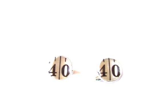 Boutons de manchette avec ruban de chiffres: 18, 21, 40, 50 ou choisissez votre numéro Écrin en velours inclus