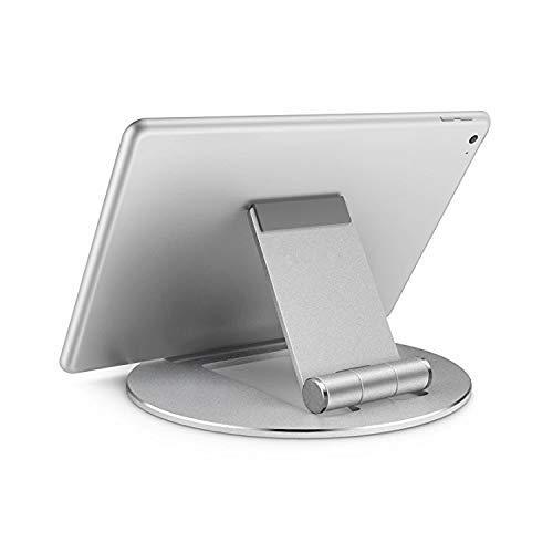 ZWWZ Soporte de Soporte de Escritorio de aleación de aleación de Aluminio Plegable Universal para 4-13 Pulgadas Tableta móvil/Tableta (Plata) (Color: Plata) MISU (Color : Silver)