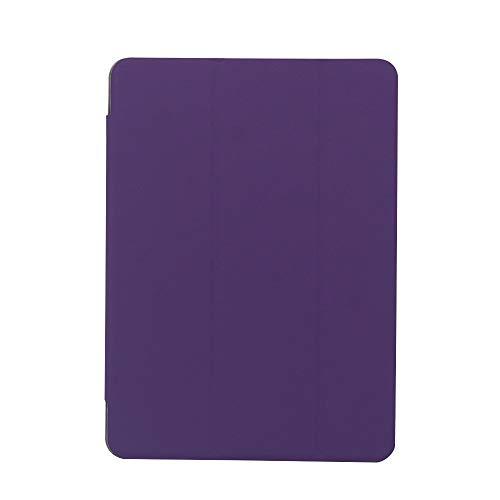 RZL Pad y Tab Fundas para Samsung Galaxy Tab S3 9.7 Pulgadas, PU + PC Flip Stand Case Transparent PC Cubierta Trasera Tablet Funda para Samsung Galaxy Tab S3 9.7 Inch SM T820 T825 (Color : Purple)