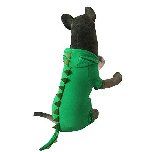 Leuke hond dinosaurus pak, mooi huisdier halloween kleding, casual jas voor grote honden kerstfeest foto of ga uit wandelen, Green3XL