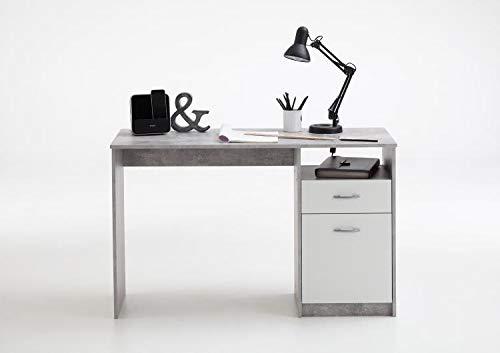 RASANTI Jackson Schreibtisch von FMD Beton/Weiß