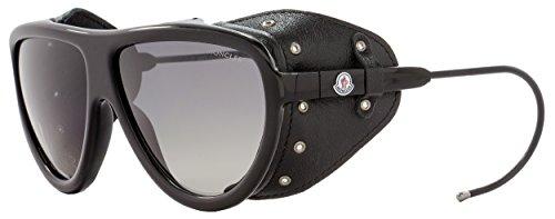 Moncler Unisex-Erwachsene ML0004 01D 57 Sonnenbrille, Schwarz (Nero Lucido/Fumo Polar)