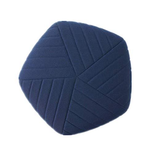 Banco de zapatos Gruesa futón piso Puf, Pequeño Taburete tapizado Puf suelo de tatami cojín del sofá futón banco Cambio Zapatos de heces Banco zapato con asiento ( Color : Azul , tamaño : 88cm )
