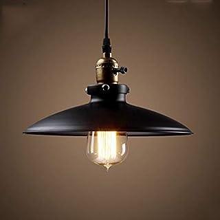 Glighone Lámpara de Techo Lámpara Vintage Lámpara Industrial UL Led Lámpara Colgante Retro Lámpara de Comendor, Adecuado para Restaurante, Bar, Cafetería, Color Interno Blanco y Negro al azar