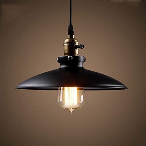 Lightess Luminaire Suspension Vintage Rétro E27 Style Industriel en Métal DIY Installation pour éclairage Cuisine Salle à manger Salon