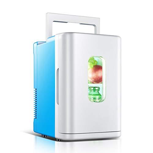 MNCYGJ Nevera para Coche 12V / 220V Mini Nevera Nevera para Bebidas Pequeña Nevera Pequeña De 10 L para Habitaciones, con Funciones De Refrigeración Y Calefacción, para El Hogar Y El Coche,Azul