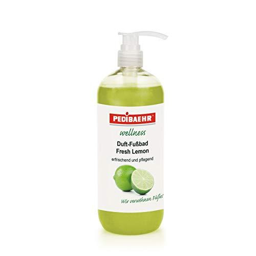 Pedibaehr Wellness Fußbad Fresh- Lemon mit Spender wohltuend und pflegend, 1000 ml