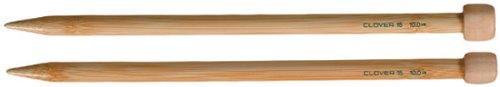 """CLOVER Takumi Bamboo Knitting Needles, 9"""" Height, Brown"""