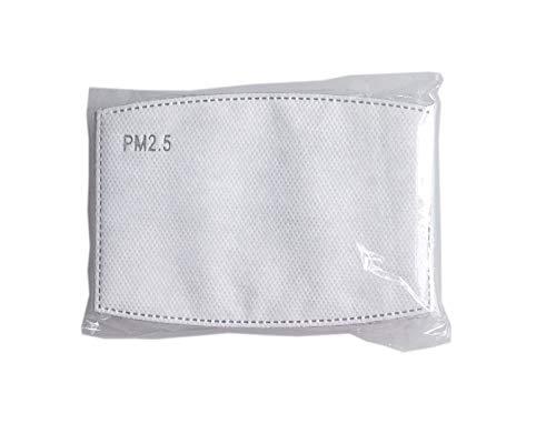 Aktivkohlefilter 10 Stück Schutzfilter aus 5 Lagen/Schichten für die Luftfiltration Pollenfilter auswechselbar Einsatz in wiederverwendbarem Mundschutz
