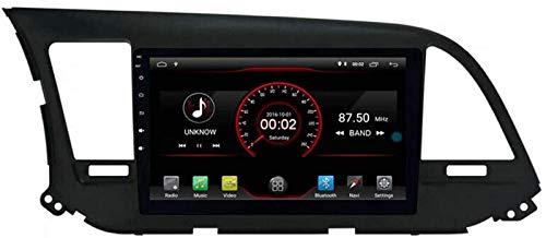 FWZJ Autosion Android 10 Car DVD Player GPS Stereo Head Unit Navi Radio Multimedia WiFi para Hyundai Elantra Avante 2016 2017 2018 Soporte Control del Volante