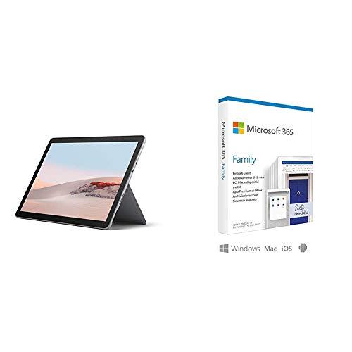 Microsoft Surface GO 2 LTE Tablet, 10.5'', 8 GB RAM, 128 GB SSD, Dual-Core Intel Core + Microsoft 365 Family   Via Posta