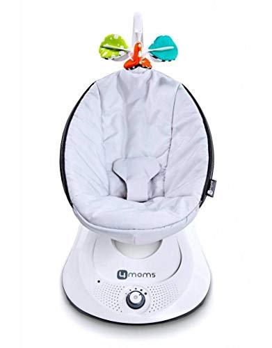 4moms rockaRoo Babyschaukel , elektrisch , automatische Schaukelwippe mit Spielbogen , grau