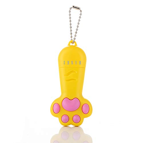 EISEI 3-in-1-Katzenspielzeug, per USB wiederaufladbar, interaktives Chaser-Spielzeug, Haustier-Trainingsgerät (gelb)