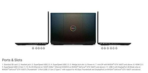 Product Image 6: 2020 Flagship Dell G5 15 Gaming Laptop 15.6″ FHD Display 10th Gen Intel Hexa-Core i7-10750H 64GB DDR4 1TB PCIe SSD 1TB HDD 4GB GTX 1650 Ti Backlit Thunderbolt HDMI Win 10 + iCarp Wireless Mouse