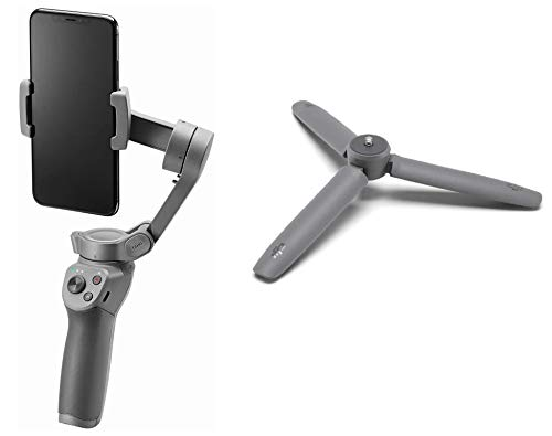 DJI Osmo Mobile 3 Stabilizzatore Gimbal a 3 Assi, Compatibile con iPhone e Smartphone Android + Treppiede