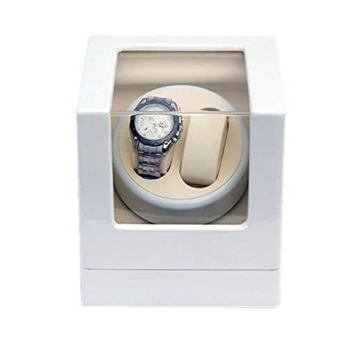 Oksmsa Lujo De Madera Automático Cajas Giratorias for Relojes, Motor Silencioso Y 5 Modo De Roaming, 2+0 Caja De Almacenamiento De Reloj, 2 Fuente De Alimentación (Color : C)