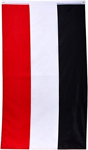 Vlaggenking vlag, Duitse keizerrijk, keizervlag, zwart/wit/rood, 150 x 90 x 1 cm, 16924