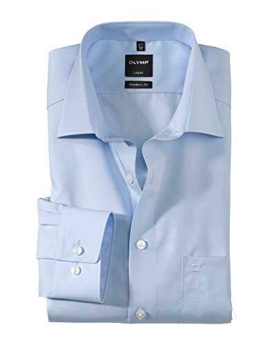 Olymp Herren Langarmhemd - Luxor Modern Fit, Gr.42, Farbe 63 hellblau