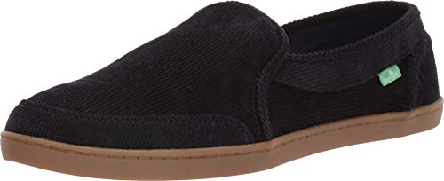 Sanuk Women's Pair O Dice Corduroy Shoe, Black, 8.5 M US