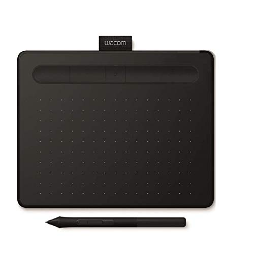 Wacom Intuos S, Tavoletta Bluetooth Nera con Penna - Tavoletta Grafica Wireless per dipingere, disegnare ed editare foto con 2 software creativi inclusi da scaricare *, compatibile con Windows & Mac