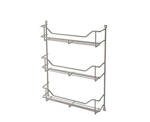 ClosetMaid 32103 Premium Three Shelf Spice Rack, Platinum