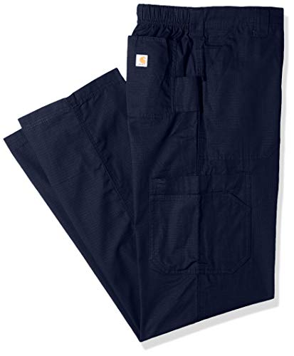 Carhartt Men's Petite Multi-Cargo Pant, Navy Blue, Medium Short