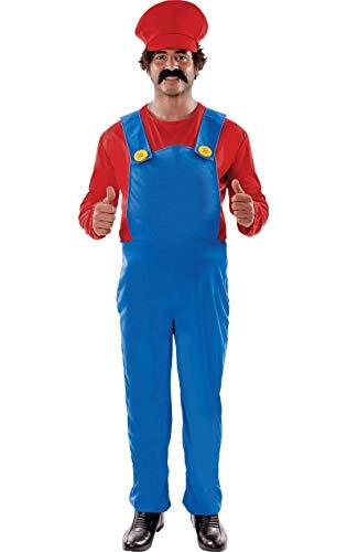 ORION COSTUMES Costume de déguisement grande taille de jeu vidéo rétro des années 80 du super plombier pour hommes