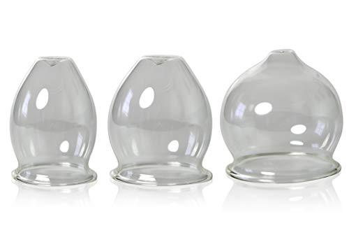 ventouse 15 cloches en verre 20 mm pour professionnels et m/édicaux handgeformt 3 Ventouse avec balle 10 feuerlosen en verre souffl/é /à ventouses la bouche lauschaer verre original