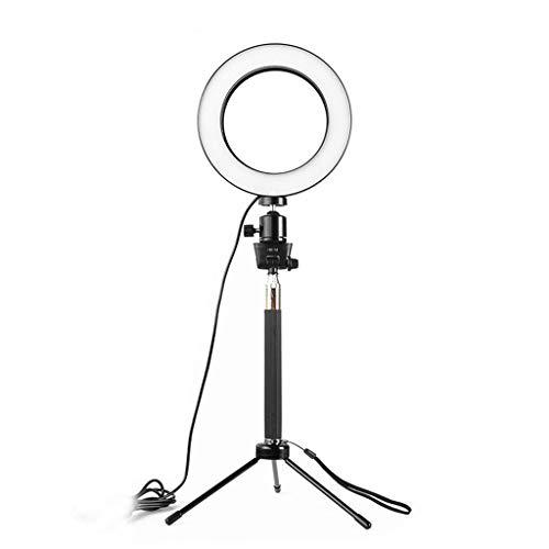 Selfie Ringlicht Ringleuchte mit Stativ und Handyhalter 3 Leuchtmodi LED Ringlicht für Makeup Live Stream 16cm