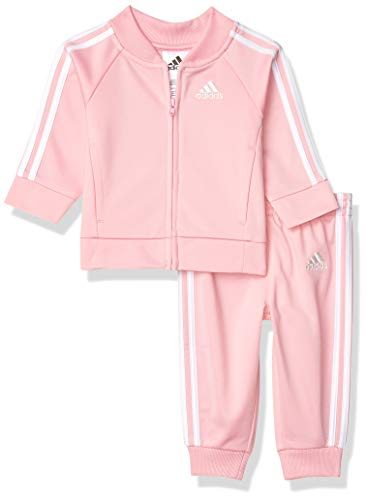 adidas Baby Girls Li'l Sport Tricot Jacket & Jogger Active Clothing Set, Light Pink, 24 Months