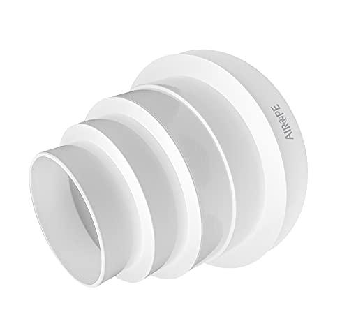 Airope,Riduttore Universale Ø 80-150 mm,Regolabile per Tubazioni in Sistemi di Ventilazione.Basta tagliare il Riduttore al Diametro di Cui hai Bisogno