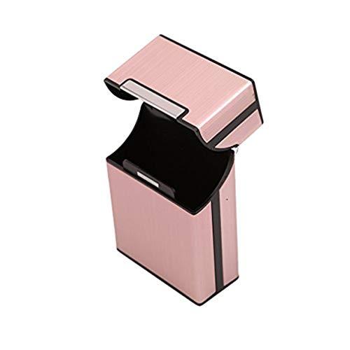 EJY Métal en Aluminium De Poche Boîte à Cigarette Cas De Carte Carte Holder Box(Rose d'or)