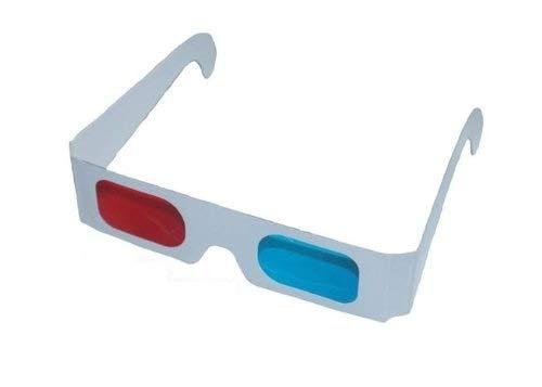 20x 3D Brille Gläser ROT/CYAN - Anaglyphenbrille KT
