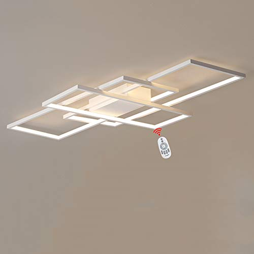Wandun Lámpara LED de Techo, Moderna Luz de Techo de diseño Cuadrado Iluminación de Techo de Interior Adecuado para Lampara de Salon Hotel Contador Oficina Hall Acrílico Plafón de Techo