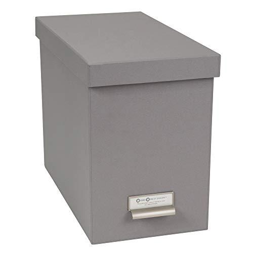Bigso John Fiberboard Label Frame Desktop File Storage Box 102 x 7 x 13 in Grey