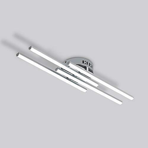 LED Deckenleuchte, 28W Deckenlampe 4 flammig Wohnzimmerlampe Geeignet für Wohnzimmer Schlafzimmer Korridor, 220V IP20 6000K Kaltweiß