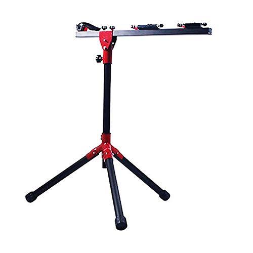 Gowell Montageständer Reparaturständer für Ihr Fahrrad E-Bike MTB 3-beiniger Stativfuss für Fahrräder bis 45 kg Fahrradmontageständer klappbar,Red and Black