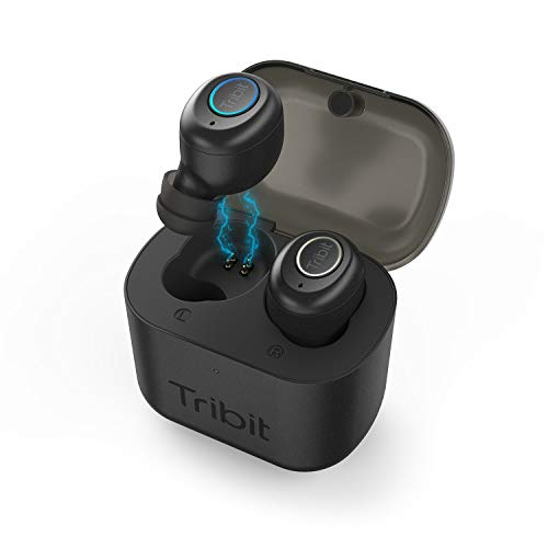 Tribit X1 True Wireless Earbuds - Bluetooth 5.0 3D Stereo Deep Bass 18Hrs Playtime Bluetooth Earbuds for Sports Running, in-Ear Bluetooth Headphones with Built-in Mic Charging Case, Carbon Black
