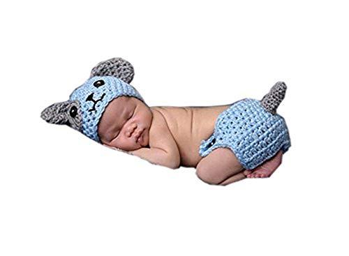 Gorro para bebé recién nacido y niñas con diseño de animales de ganchillo, gorro para perro