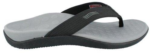 Vionic Unisex Wave Toe Post Sandal, 8 B(M) US Women / 7 D(M) US Men, (Black)