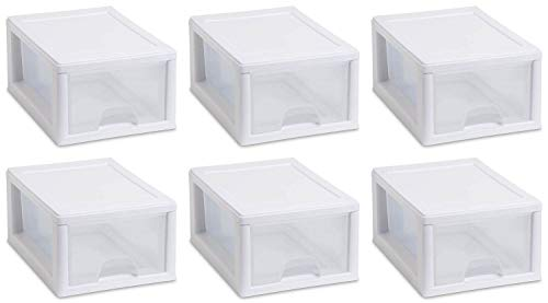 Sterilite 20518006 Sackable Storage Drawer, Pack of 6