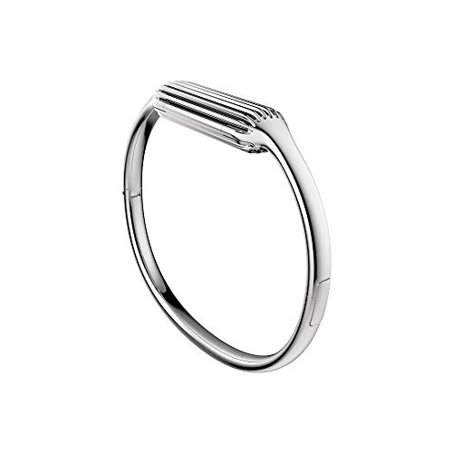 Fitbit Flex 2 - Brazalete para Fitbit Flex 2 de acero inoxidable pulido, talla L