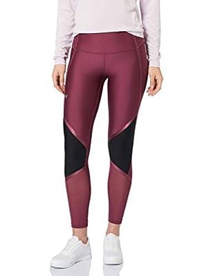 Under Armour Women's HeatGear Armour High Waisted Shine Ankle Crop, Level Purple (569)/Metallic Silver, Small