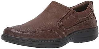 حذاء Elkhound رجالي سهل الارتداء من Hush Puppies بني اللون من جلد نوبوك