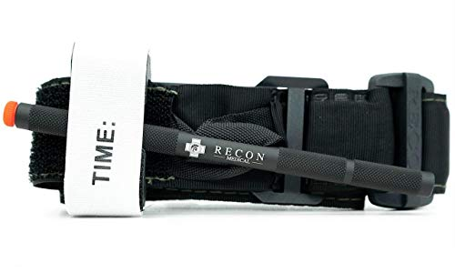 Recon Medical Tourniquet (Black) GEN 3b - With aluminum windlass and Kevlar stitching - 1 Pack