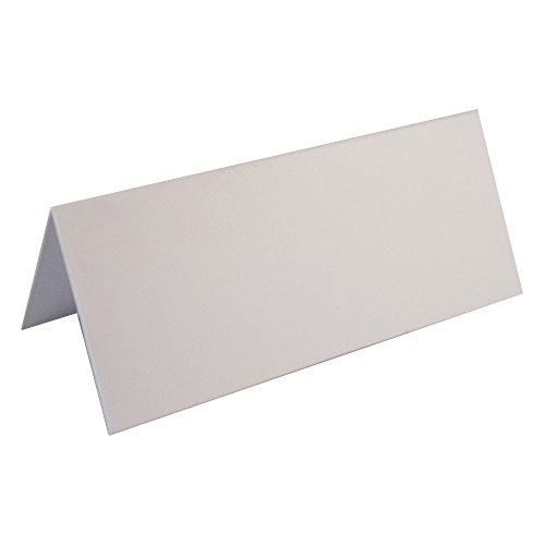 100 x Smooth White Blank Wedding Table Name Place Cards - UK Card Crafts