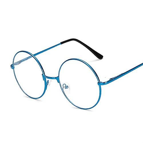 Gafas de Sol Eyeglasses Marco Mujeres Transparente Gafas Redondas Claro Marco Espectáculo Myopia Gafas Hombres Marco Nerd Marcos Rojo Gafas de Sol (Frame Color : Blue)