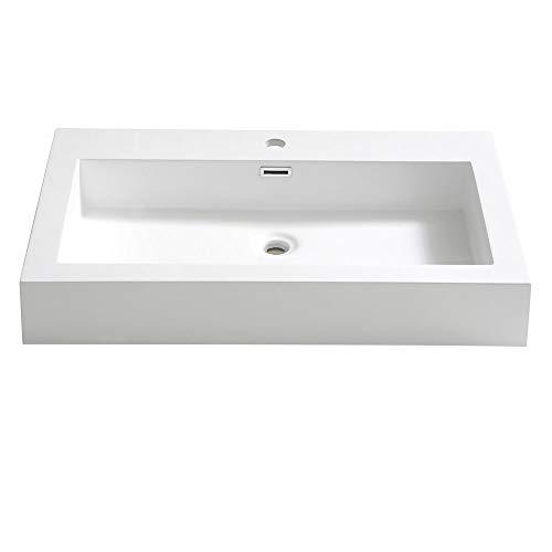 Fresca Livello 30 inch White Integrated Sink/Countertop