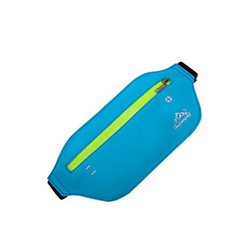 WDFVGEE - Riñonera deportiva para viajes, para correr, con cinturón delgado, fácil de llevar, Blue (Azul) - 3TT900926-BL_ENG1