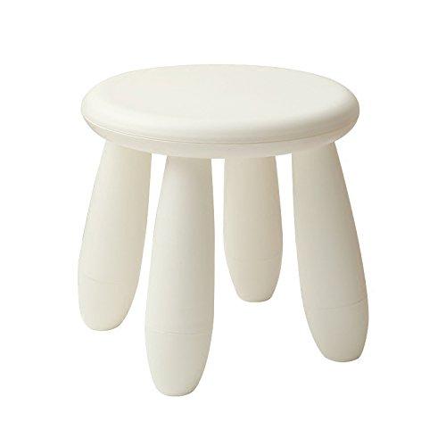 NYDZDM Tabouret Simple Blanc 4 Pieds Assemblé Banc en Plastique Tabouret Adulte Enfants Salle De Bains Tabouret De Douche Pôles Home Petite Chaise